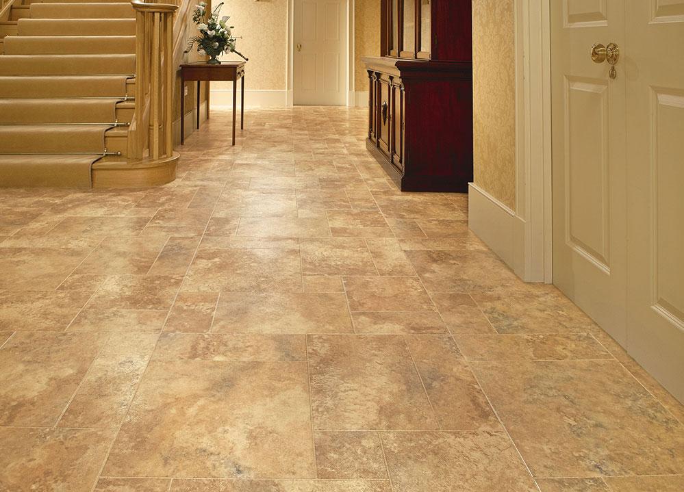 Floating vinyl floor tiles
